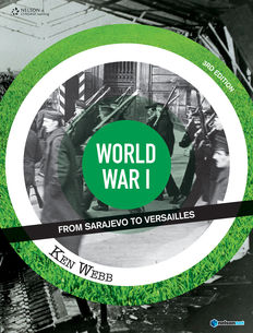 World War I: Sarajevo to Versailles (Student Book with 4 Access Codes)