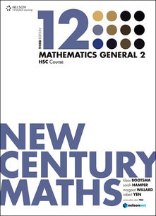 New Century Maths 12 Mathematics General 2: HSC Course (Student Book with 4 Access Codes)