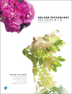 Nelson Psychology VCE Units 3 & 4 Student Book with 4 Access Codes