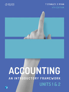 Accounting: An Introductory Framework Units 1 and 2 student book 4e