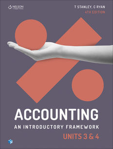 Accounting: An Introductory Framework Units 3 & 4