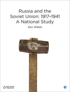 Nelson Modern History: Russia and the Soviet Union 1917-1941