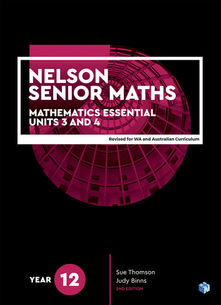 Nelson Senior Maths 12 Mathematics Essential