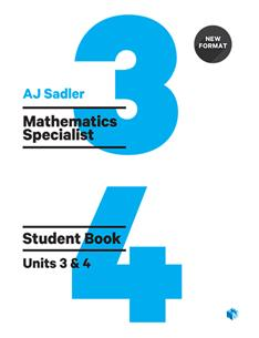 Mathematics Specialist Units 3 & 4 Revised 1st Edition